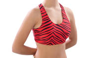 1023AP and 1213AP Pizzazz Animal Print Sports Bra
