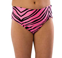 1100AP and 1200AP Pizzazz Body Basics Animal Print Cheer Brief
