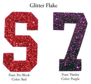 One Color Glitter Flake