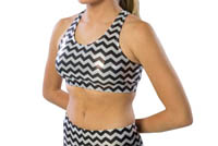 1023CM and 1213CM Pizzazz Chevron Metallic Sports Bra