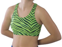3500ZG and 3600ZG Pizzazz Zebra Glitter Sports Bra