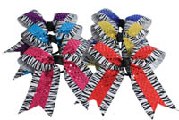 HB350AP Zebra with Sequin Hair Bow